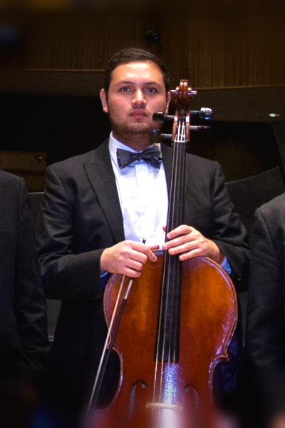 Misael Luna - Cello. One of the best students of Dr Janssen at UTRGV.  Gifted with a prominent future.